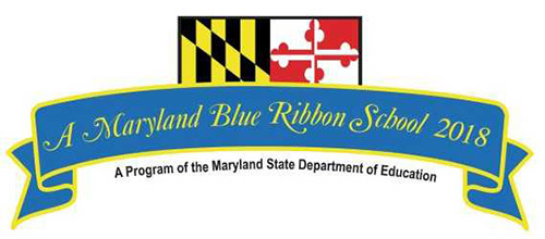 Logo: Maryland Blue Ribbon School 2018, a program of the Maryland State Department of Education